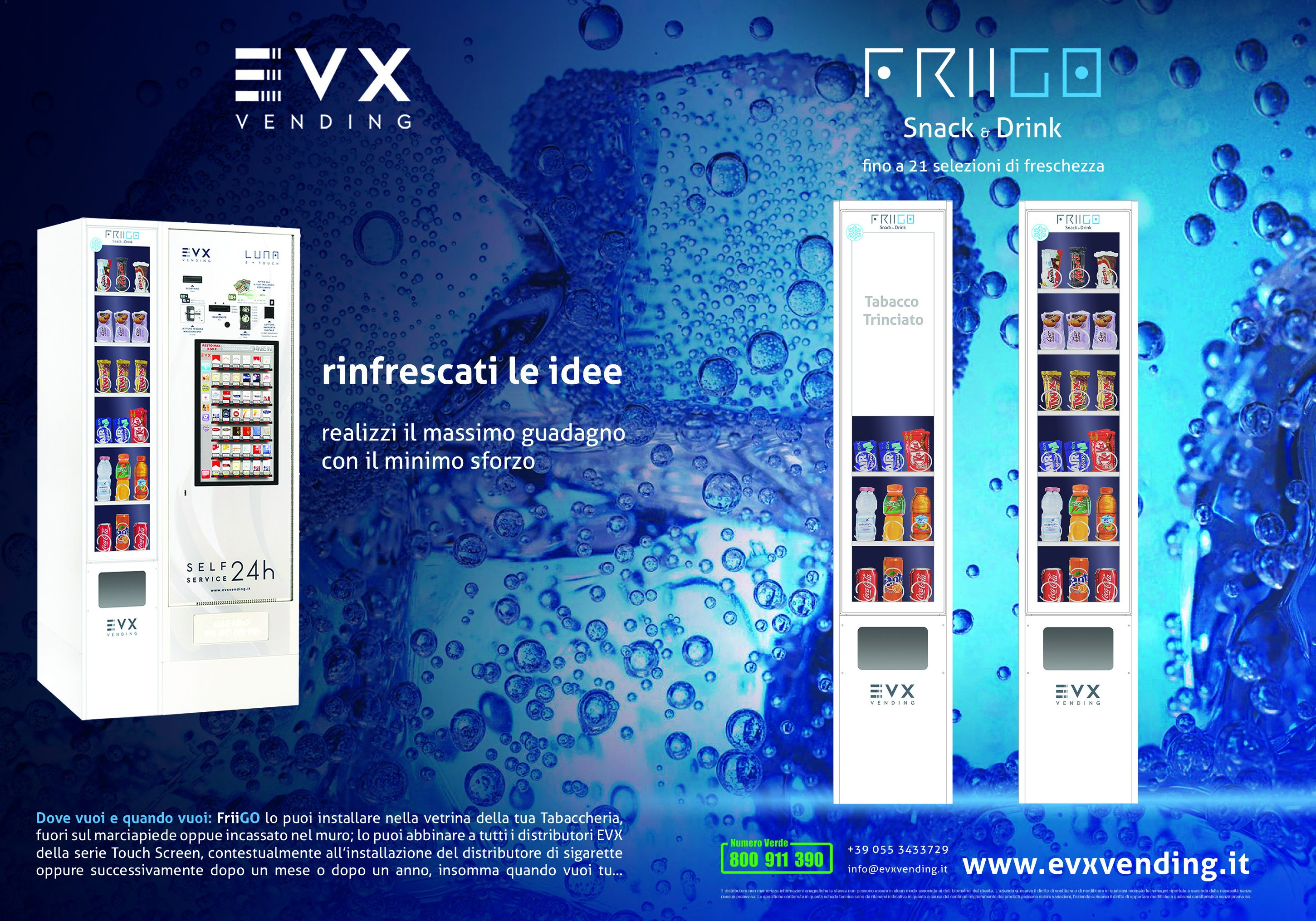 distributore automatico di sigarette evx