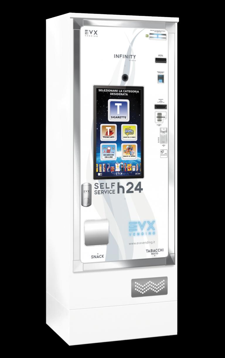 Infinity Store EVX Distributore automatico di sigarette bianco