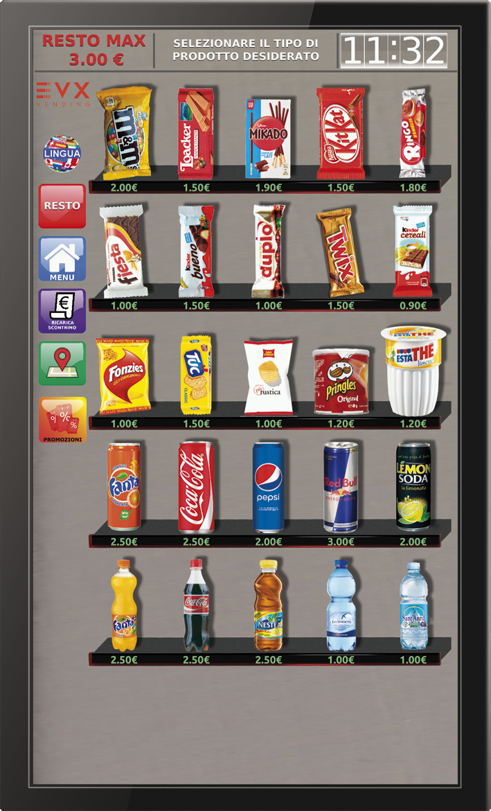 Dispaly Snacks EVX distributore automatico sigarette