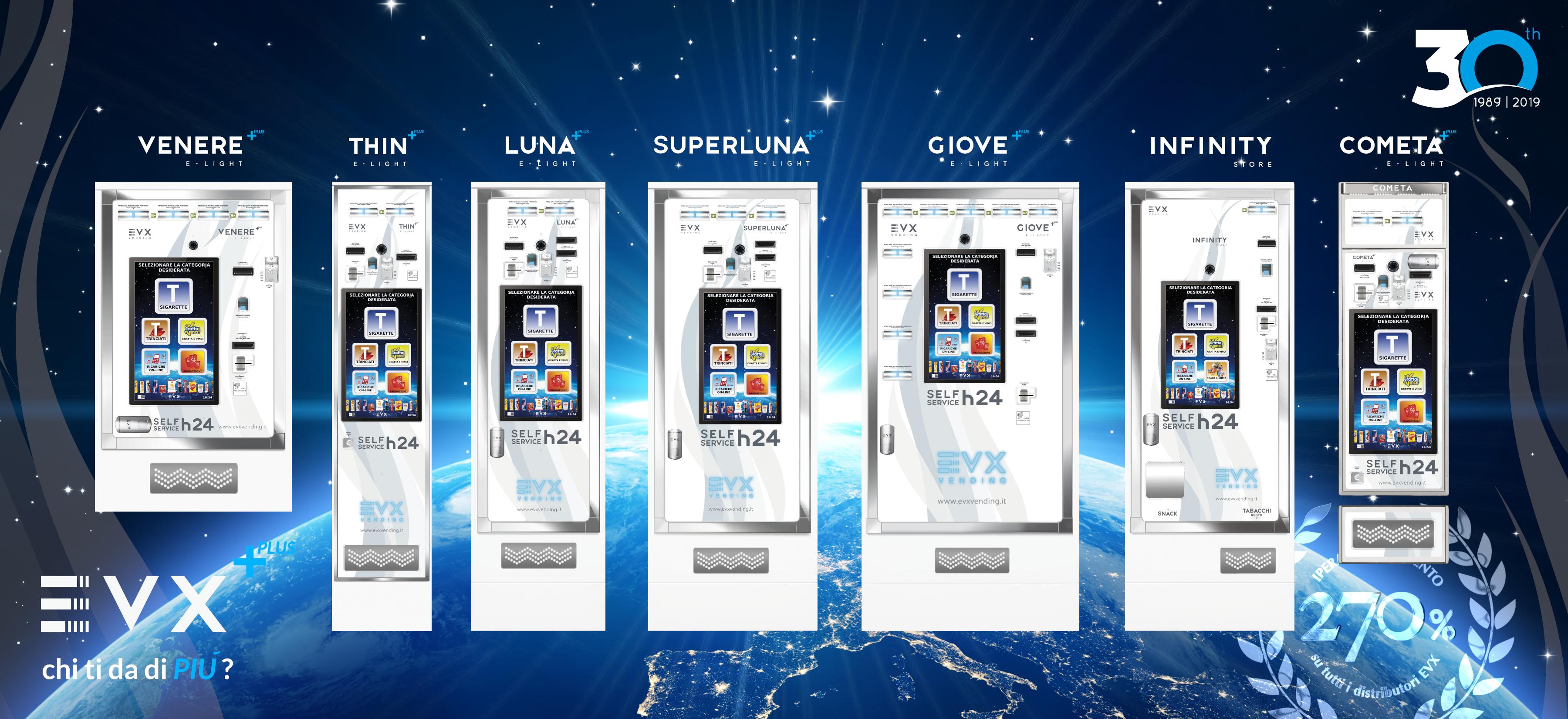 Distributore Automatico di Sigarette EVX nuova liena PLus