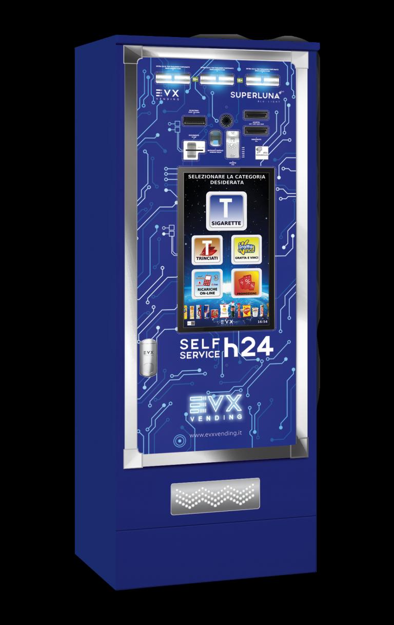 Superluna +Plus EVX Distributore automatico di sigarette Blu-Light