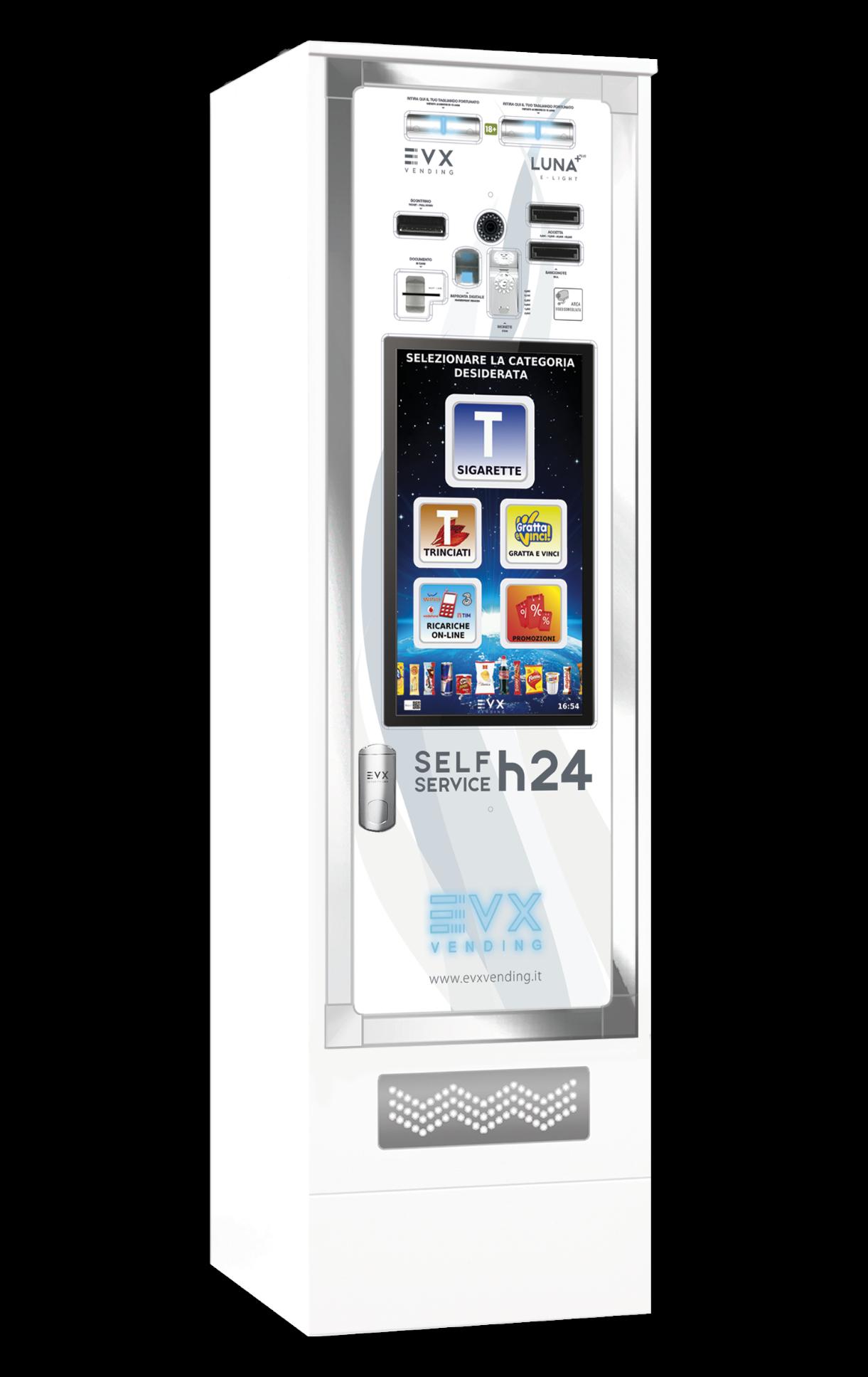 Luna +Plus EVX Distributore automatico di sigarette bianco