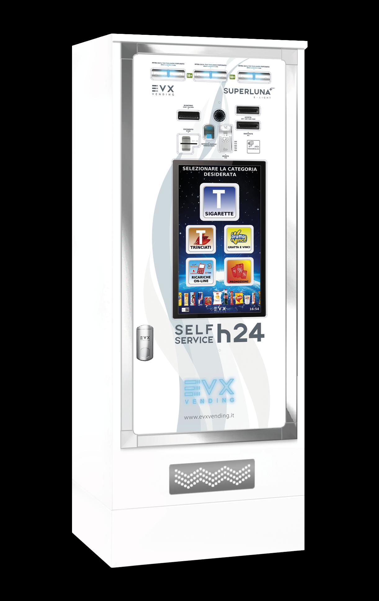 Superluna +Plus EVX Distributore automatico di sigarette bianco